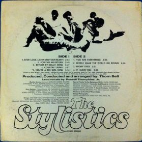 1971 The Stylistics (debut LP), Avco Records AV-33023 (back)