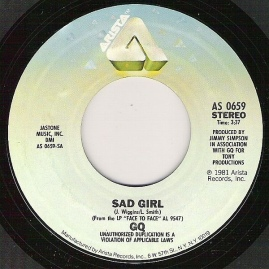 1981 Sad Girl-GQ-Arista AS 0659