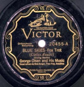 1927 Blue Skies-George Olsen and Orchestra, Victor 20455-A