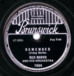 1937 Remember (Irving Berlin)-Red Norvo & Orch.-Brunswick 7896