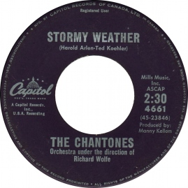 1961 Stormy Weather-Chantones-Capitol (Canada) 4661