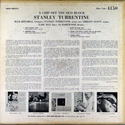 1964 A Chip Off the Old Block, Stanley Turrentine, Blue Note 4150 (Mono) back