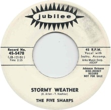 1964 Stormy Weather-Five Sharps-Jubilee 45-5478 (June)