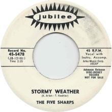 1964 Stormy Weather-Five Sharps-Jubilee 45-5478 (June)