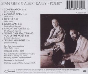 1984 Poetry-Stan Getz & Albert Dailey (back)