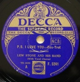 1934 P.S. I Love You-Lew Stone and His Band-Decca (UK) F.5241