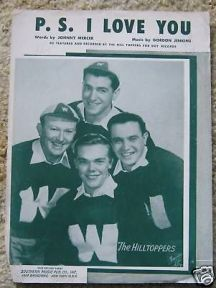 1953 P.S. I Love You-Hilltoppers sheet