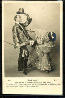Les Elks-c. 1903-Nouveau Cirque-cakewalk postcard series 145-2-d40