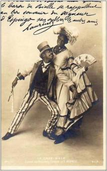 Les Nègres-c. 1903 cakewalk postcard series 144-6-d15-a
