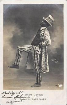 Nègre Joyeux-Charles Gregory-postcard, photographed by Walery, Paris (4)-c1