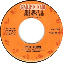 1968 This Girl's in Love With You-Eydie Gorme-Calendar 63-1004
