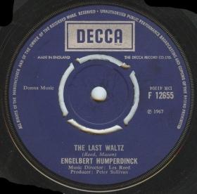1967 Last Waltz-Engelbert Humperdinck-Decca (UK) F 12655