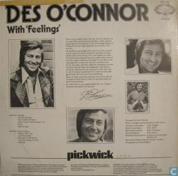 1975 With Feelings LP-Des O'Connor, Hallmark (UK) HMA 255 (back)