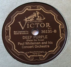 1934 Deep Purple (Peter De Rose) Paul Whiteman-Victor 36131-B