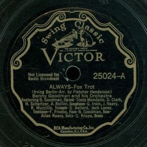 1935 Always (Berlin) Benny Goodman and his Orch.-Victor 25024-A