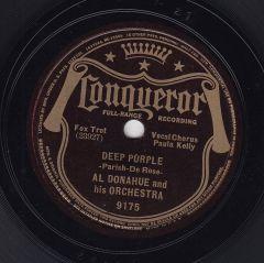 1939 Deep Purple-Al Donahue-Conqueror 9175