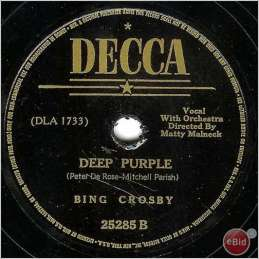 1939 Deep Purple-Bing Crosby-Decca 25285 B