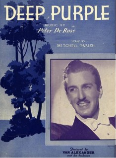 1939 Deep Purple (DeRose, Parish)-feat. Van Alexander