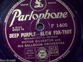 1939 Deep Purple-Victor Silvester-Parlophone F 1405 (side B)