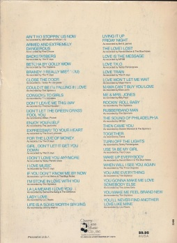 The Sound of Philadelphia-book, 1982-Kenneth Gamble and Leon Huff-song list-30p