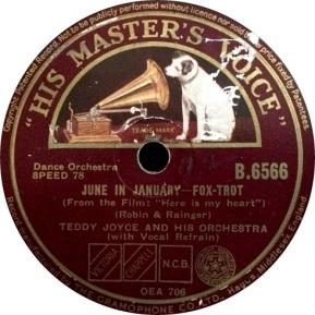 1933 June in January-Teddy Joyce-HMV B.6566 (1a-70p)
