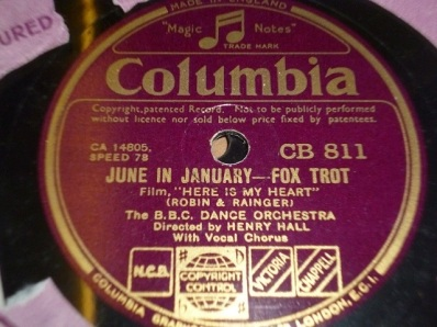 1934 June in January-BBC Dance Orch., dir. Henry Hall-(UK) Columbia CB 811-(1-40p)