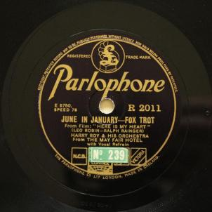 1934 June in January-Harry Roy-(UK) Parlophone R 2011