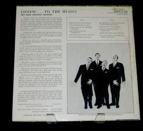 1957 Listen!-Hi-Lo's-Starlite Records ST-7006 (1a) back