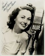 Connie Haines-BLUE radio, inscribed to Herman-1a