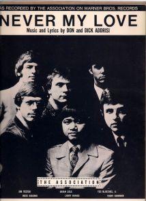 1967 Never My Love-The Association-sheet music-1a