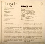 1969 Didn't We- Stan Getz-Verve Records V6-8780(back)-1a