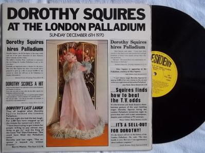 1971 Dorothy Squires Live At The London Palladium Sunday December 6th 1970, (UK) President Records PTLS 1043,4