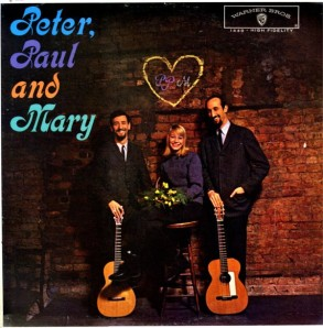 1962 Peter, Paul and Mary-debut LP-Warner Bros. Records 1449-front cover