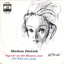 1962 Sag mir wo die Blumen sind-Marlene Dietrich-(Germany) Electrola E 22 180 (front cover)