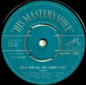 1962 Where Have All the Flowers Gone-George Mitchell Choir-HMV 45-POP 1095 (B-side)-1a