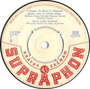 1964 Řekni, kde ty kytky jsou-Judita Čeřovská-(Czechoslovakia) Supraphon 013176