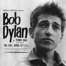 Bob Dylan-Town Hall, NYC, 12 April 1963-poster