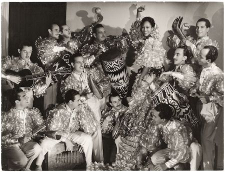 The Lecuona Cuban Boys on tour in Buenos Aires, Argentina (1940-1941), photo by Annemarie Heinrichinrich-1