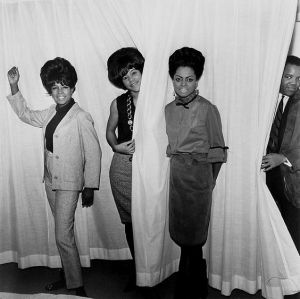 Supremes with Berry Gordy at Hilton Hotel Amsterdam, 14 October 1964