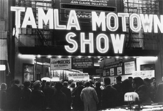 Motortown Revue marquee at Olympia, Paris, 13 April 1965