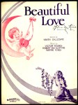 1931 Beautiful Love sheet music cover (1a)