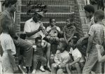 Louis Armstrong with kids, trumpet lesson (1)